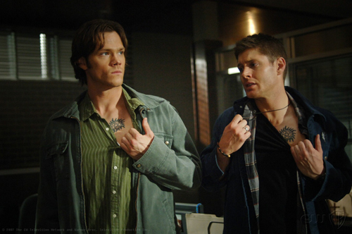 Wincest achtergrond titled Sam and Dean and Tattoos!