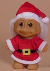 Santa Claus Troll Doll