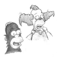 The Simpsons wolpeyper probably with anime called Simpsons Sketches