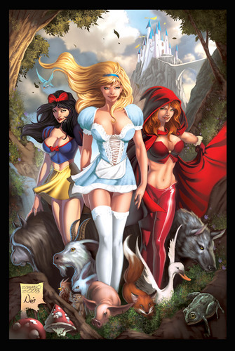 Snow White, Cinderlla, Red