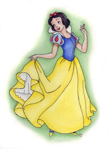 Snow White Holding Dress