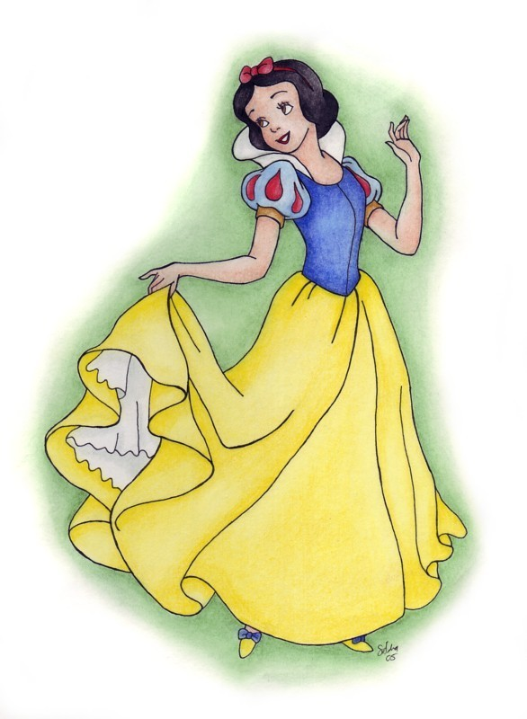 586 X 800 Jpeg 82kB Classic Disney Snow White Holding Dress Source