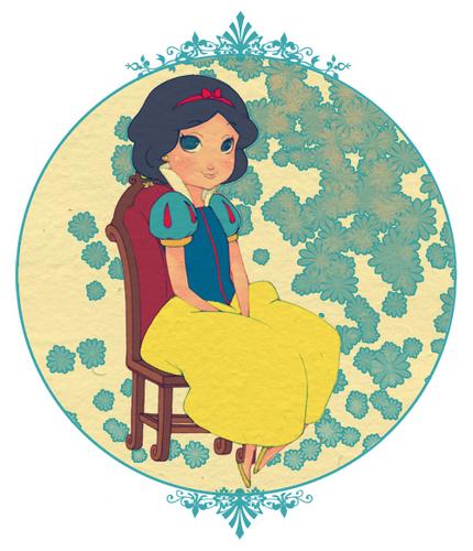 Snow White Sitting