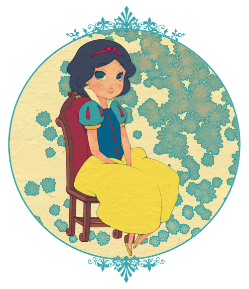 Snow White Sitting