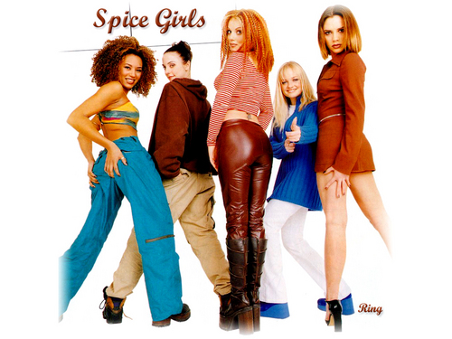 Victoria Beckham wallpaper containing a hip boot and tights called Spice Girls