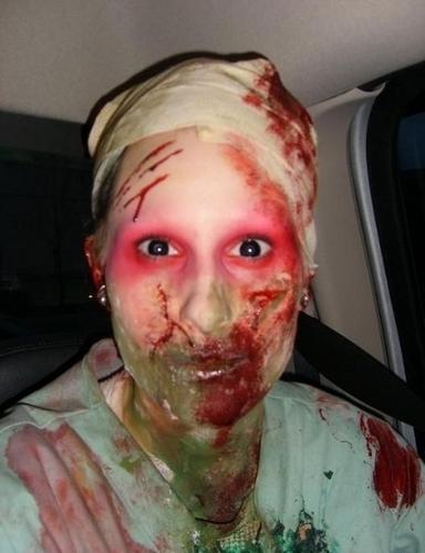 हैलोवीन वॉलपेपर titled Spooky Makeup
