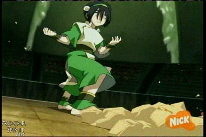 Avatar the last airbender toph fighting