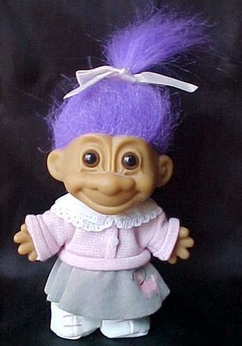 Troll doll images from here because we don't do troll dolls in our