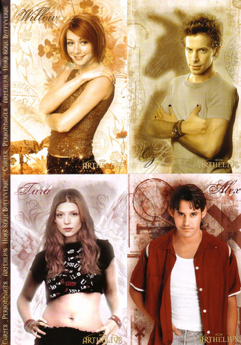 Buffy The Vampire Slayer kertas dinding possibly with a portrait called Willow,Oz, Tara & Xander