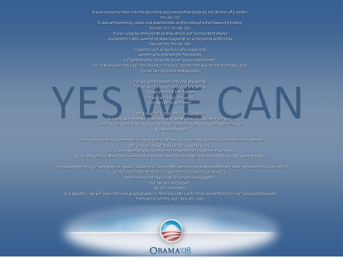 Barack Obama Images Yes We Can