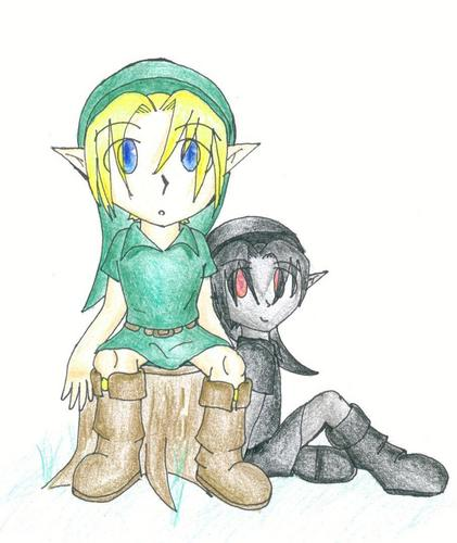 Young Link and Young Dark Link