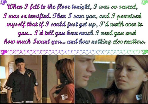 One Tree Hill Quotes Wallpaper Called Haley And Nathan