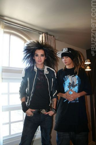 Tom & Bill Kaulitz 壁纸 containing an outerwear, long trousers, and a hip boot entitled tom&bill