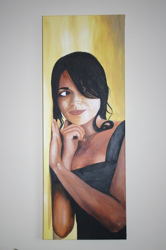 Painting of Norah Jones