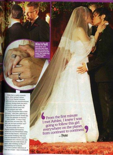 Ashlee Simpson wallpaper entitled Ashlee & Pete Wedding