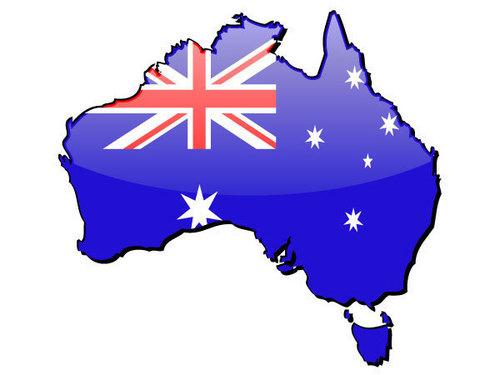 Australia map-flag