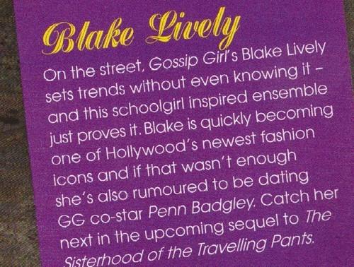 Blake in Girlfriend scans