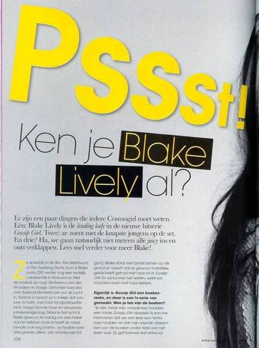 Blake in Netherlands Cosmogirl!