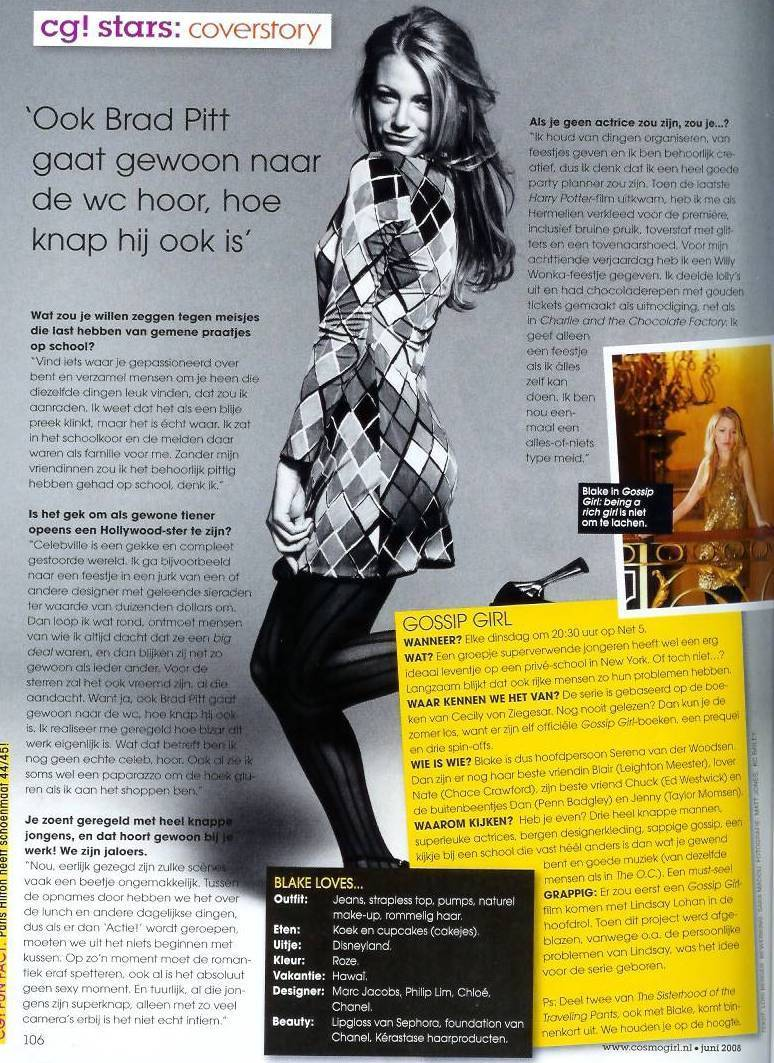 Blake in Netherlands Cosmogirl!