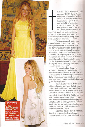 Blake in Teen Vogue - blake-lively Photo