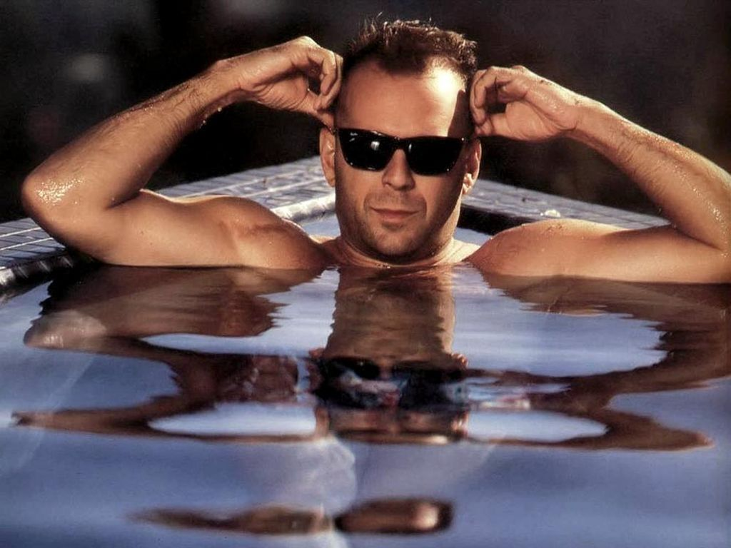 Bruce in the pool!