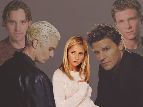Buffy Angel Spike Xander Riley