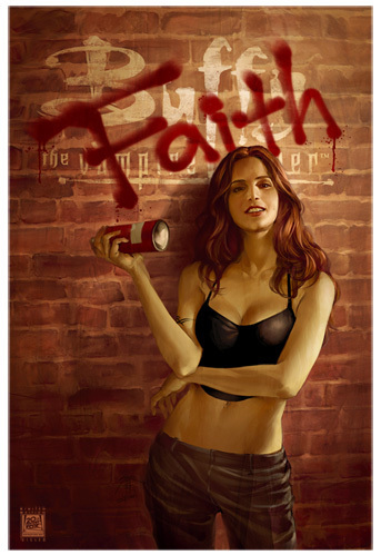 Buffyverse Comics achtergrond possibly with a halter entitled Buffy Comic Cover