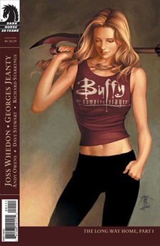 Buffyverse Comics achtergrond with anime titled Buffy Comic Cover