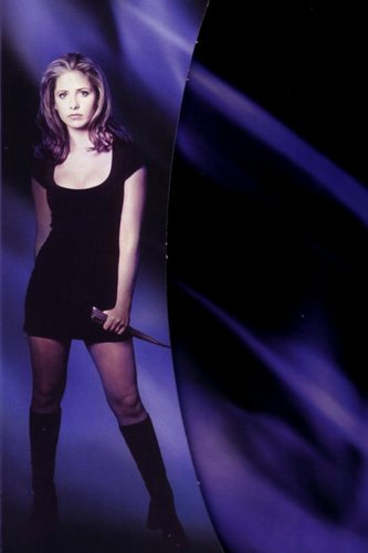 Buffy the Vampire Slayer wallpaper probably with a leotard and tights called Buffy (season 1)