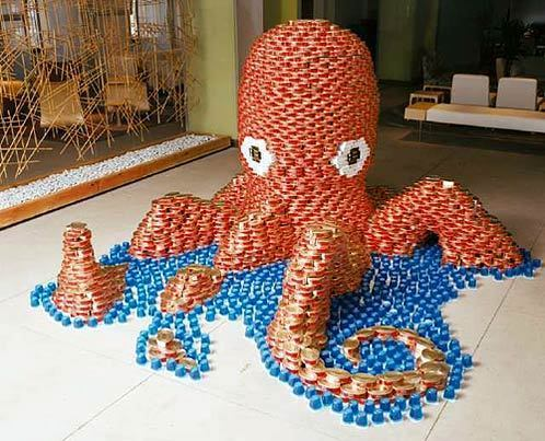 Canned Food Sculpture