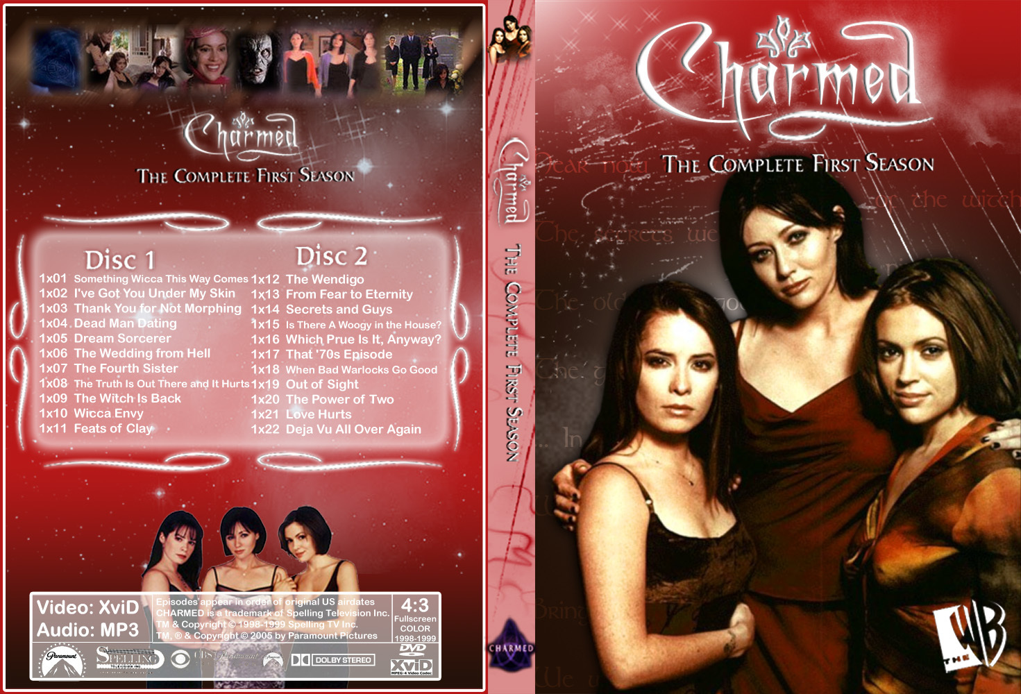Charmed Season 1 Dvd Cover Made door Chibiboi