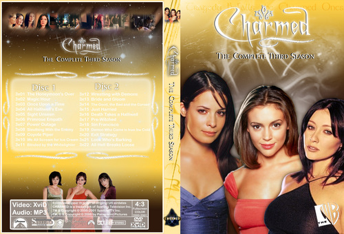Charmed Season 3 Dvd Cover Made kwa Chibiboi