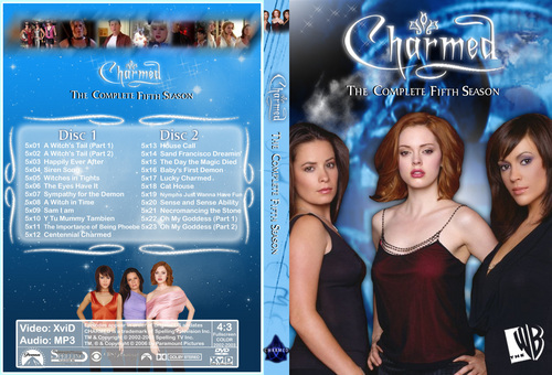 Charmed Season 5 Dvd Cover Made kwa Chibiboi