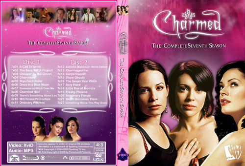 Charmed wallpaper possibly with a sign and a portrait titled Charmed Season 7 Dvd Cover Made By Chibiboi