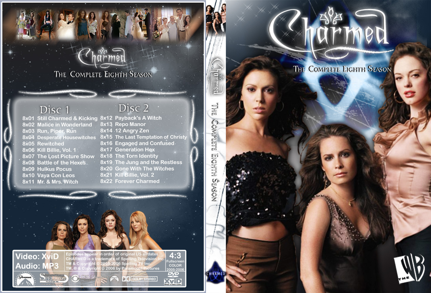 charmed Season 8 Dvd Cover Made oleh Chibiboi