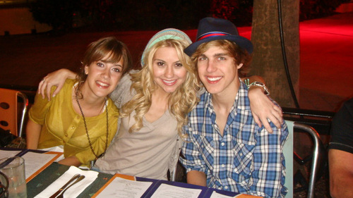 Chelsea with Cody Linley at DC Games