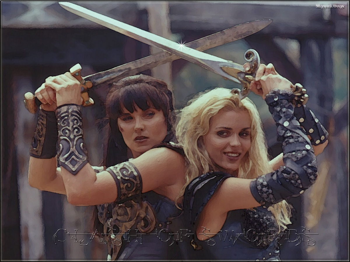 Xena Vs Callisto Images Clash Of Swords Hd Wallpaper And Background