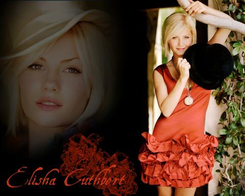 एलीशा कथबट॓ वॉलपेपर with a bouquet and a portrait called Elisha