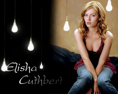 Elisha Cuthbert wallpaper possibly containing a cocktail dress entitled Elisha