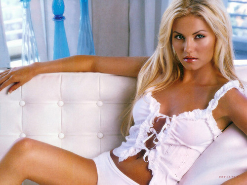 Elisha Cuthbert wallpaper probably containing bare legs and a chemise called Elisha