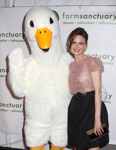Emily Deschanel at Farm Sanctuary Gala
