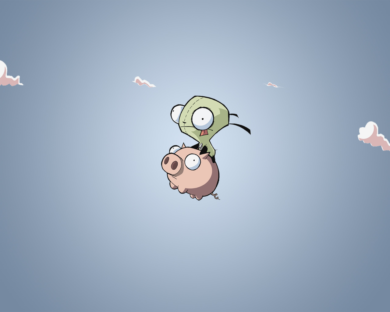 gir on his pig invader zim wallpaper 1404581 fanpop