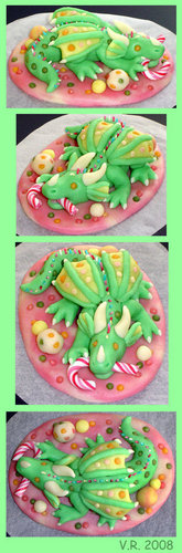 খাবার দেওয়ালপত্র possibly with a holiday dinner, a lunch, and an antipasto called Green Marzipan Dragon