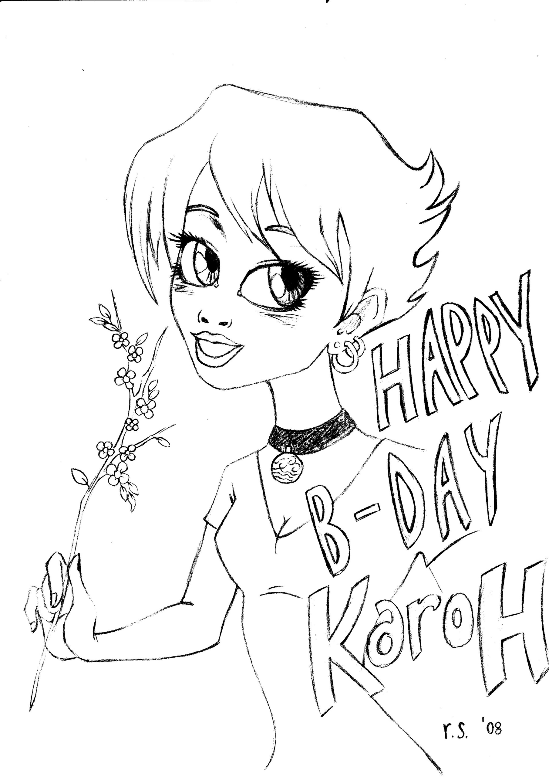 Doodles And Drawings Images Happy Birthday Karoh 3 Hd Wallpaper