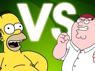 The Simpsons Vs Family Guy پیپر وال possibly containing عملی حکمت entitled Homer Vs Peter