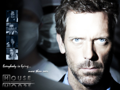 House MD - Black & White - house-md Wallpaper