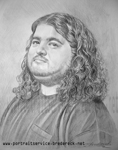 Jorge Garcia (Hurley) Drawing