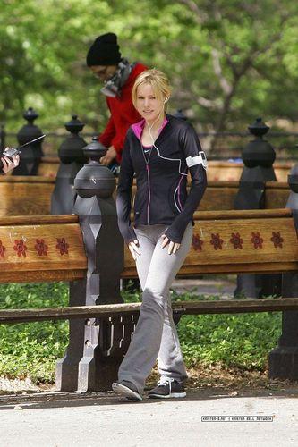 Kristen shooting for When In Rome!