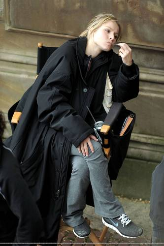 Kristen shooting for When In Rome!