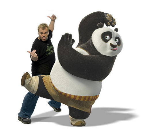 Jack Black and Po